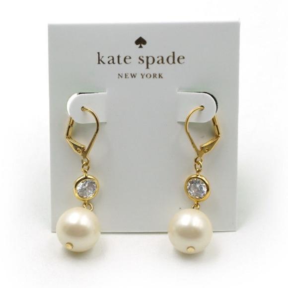 01b91fce4 kate spade Jewelry | Bright Ideas Pearl Drop Earrings | Poshmark